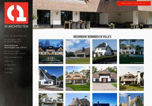 Screenshot van 01architecten.nl