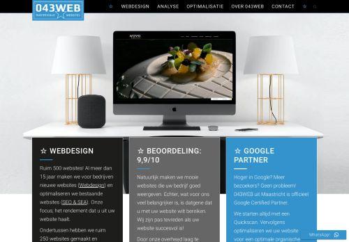 Screenshot van 043web.nl