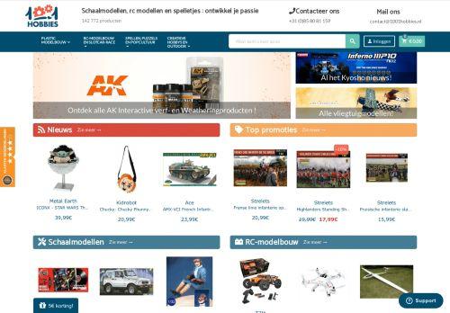 Screenshot van 1001modelbouw.nl