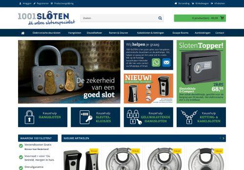 Screenshot van 1001sloten.nl