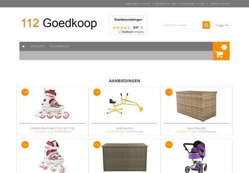 Screenshot van 112goedkoop.nl