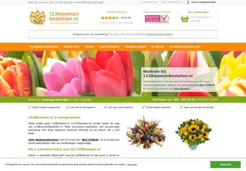Screenshot van 123-bloemen.nl