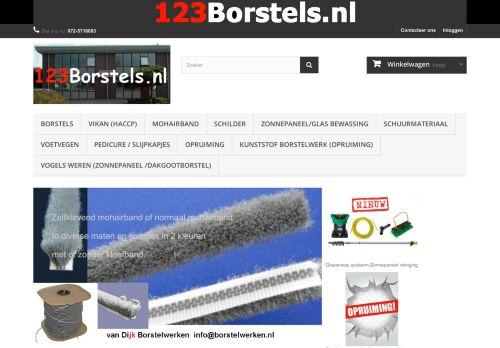 Screenshot van 123borstels.nl
