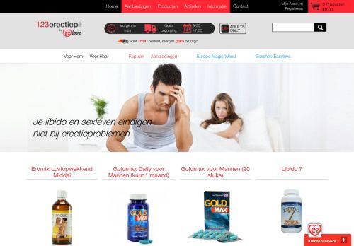 Screenshot van 123erectiepil.nl