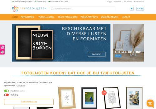 Screenshot van 123fotolijsten.nl