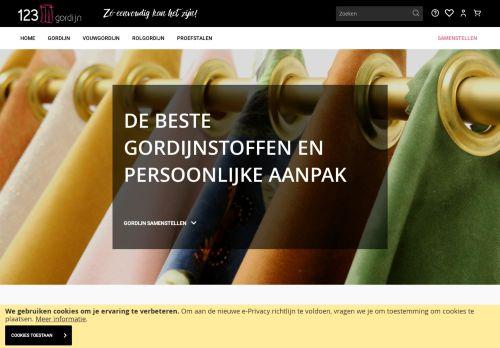 Screenshot van 123gordijn.nl