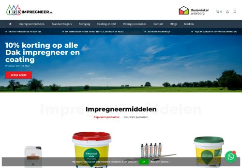 Screenshot van 123impregneer.nl