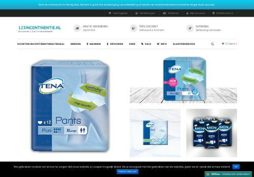 Screenshot van 123incontinentie.nl