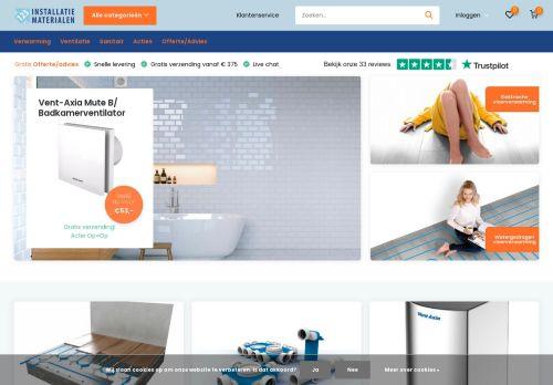 Screenshot van 123installatiematerialen.nl