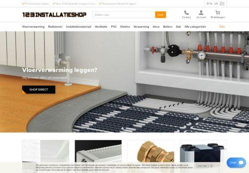 Screenshot van 123installatieshop.nl