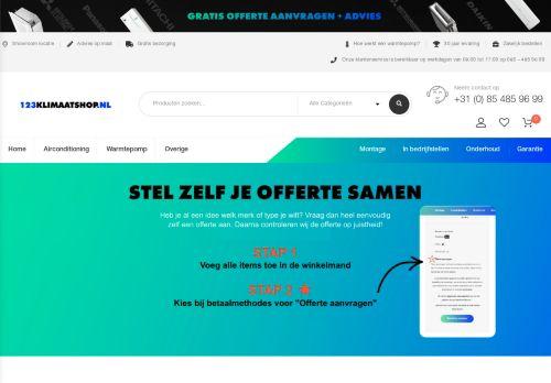 Screenshot van 123klimaatshop.nl