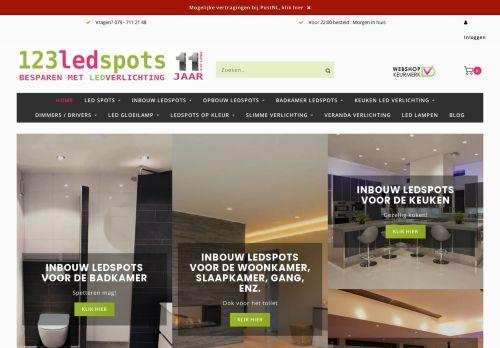 Screenshot van 123ledspots.nl