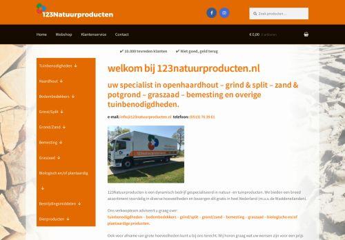 Screenshot van 123natuurproducten.nl