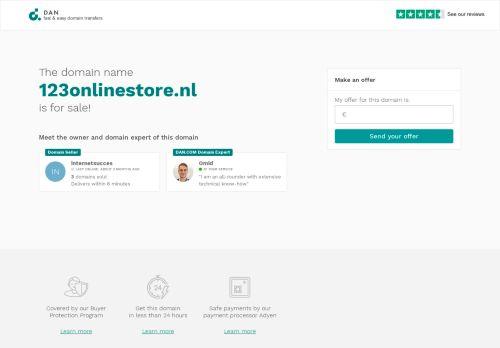 Screenshot van 123onlinestore.nl