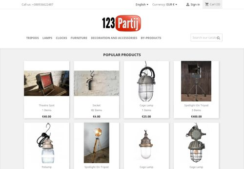 Screenshot van 123partij.nl
