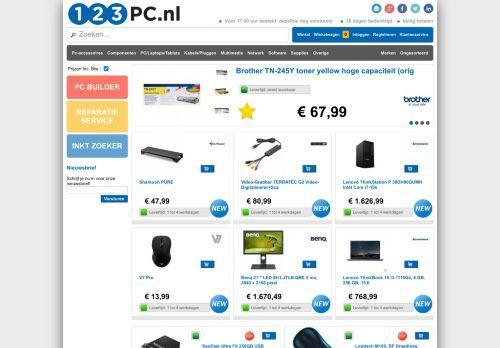 Screenshot van 123pc.nl