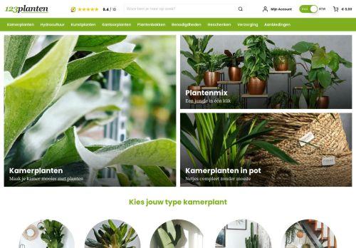Screenshot van 123planten.nl