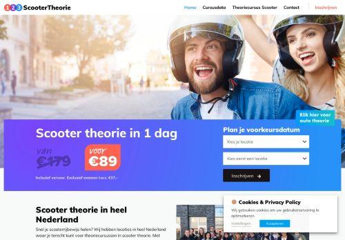 Screenshot van 123scootertheorie.nl