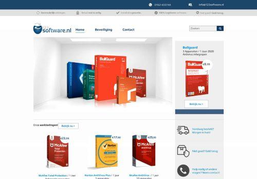 Screenshot van 123software.nl