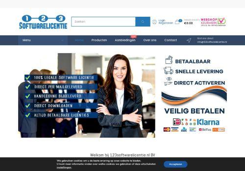 Screenshot van 123softwarelicentie.nl