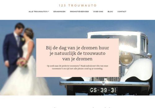 Screenshot van 123trouwauto.nl