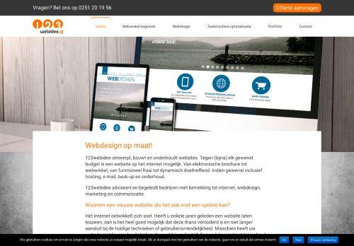 Screenshot van 123webidee.nl