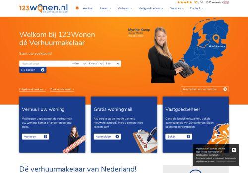 Screenshot van 123wonen.nl