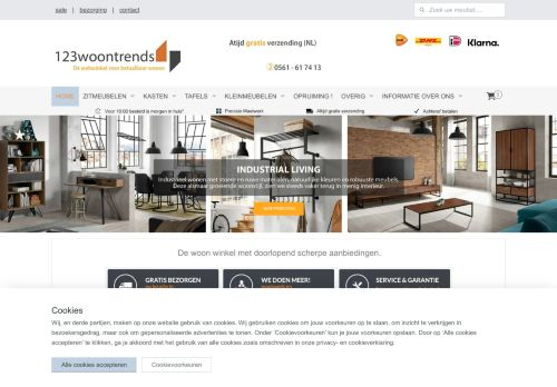Screenshot van 123woontrends.nl