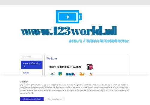 Screenshot van 123world.nl