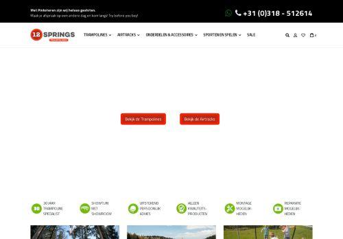 Screenshot van 12springstrampolines.nl