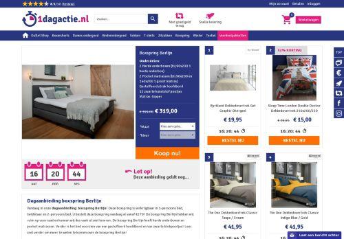 Screenshot van 1dagactie.nl