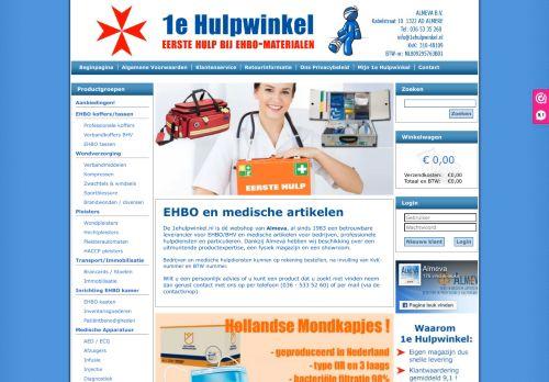 Screenshot van 1ehulpwinkel.nl