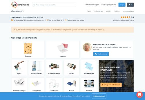 Screenshot van 24-drukwerk.nl