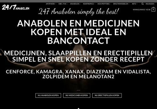 Screenshot van 247anabolen.nl