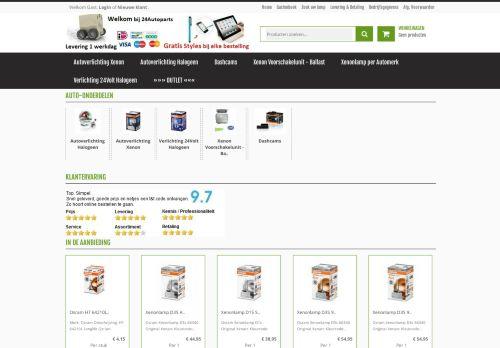 Screenshot van 24autoparts.nl
