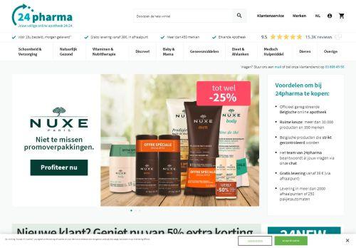 Screenshot van 24pharma.be
