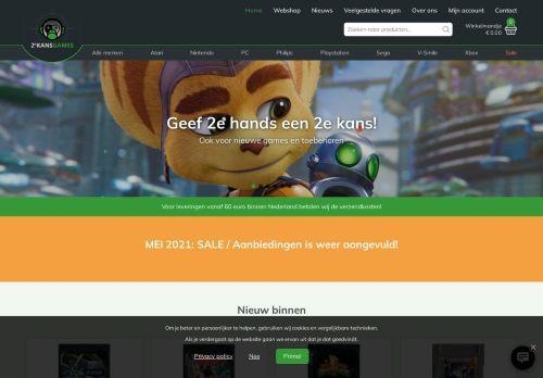 Screenshot van 2ekansgames.nl