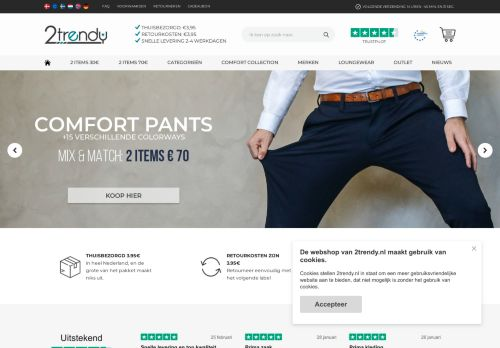 Screenshot van 2trendy.nl