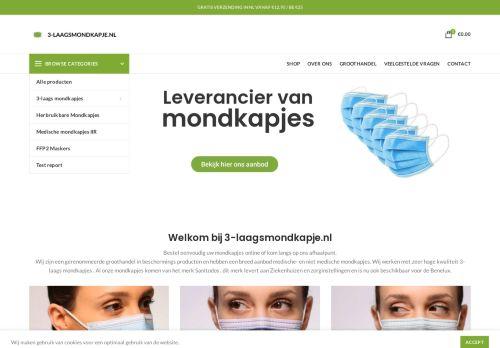 Screenshot van 3-laagsmondkapje.nl