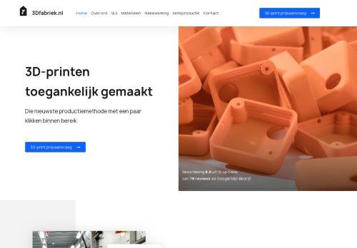 Screenshot van 3dfabriek.nl