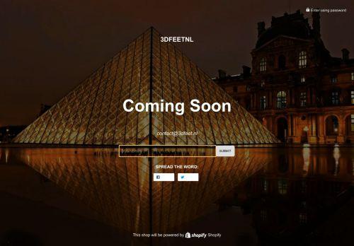 Screenshot van 3dfeet.nl
