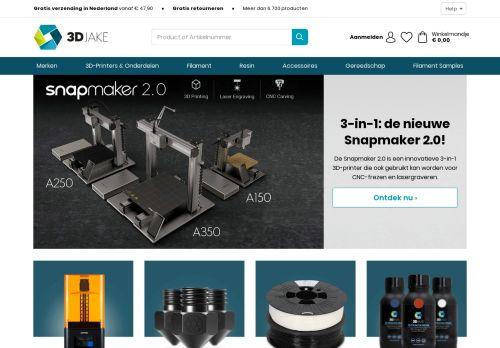 Screenshot van 3djake.nl