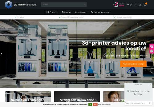 Screenshot van 3dprintersolutions.nl