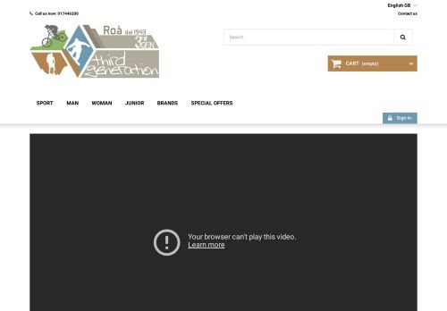 Screenshot van 3rdgen-shop.com