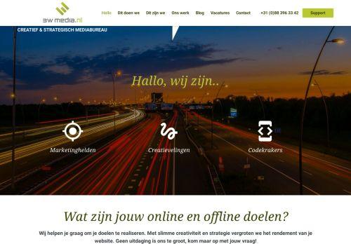 Screenshot van 3wmedia.nl