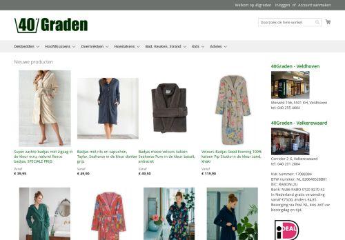 Screenshot van 40graden.nl
