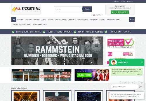 Screenshot van 4alltickets.nl