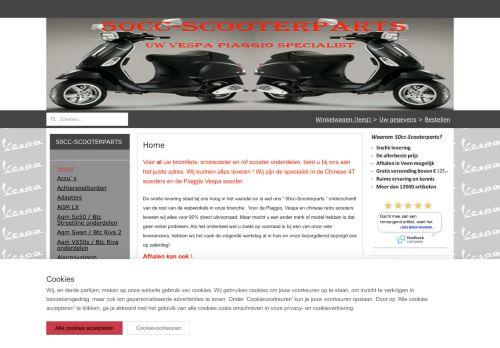 Screenshot van 50cc-scooterparts.nl