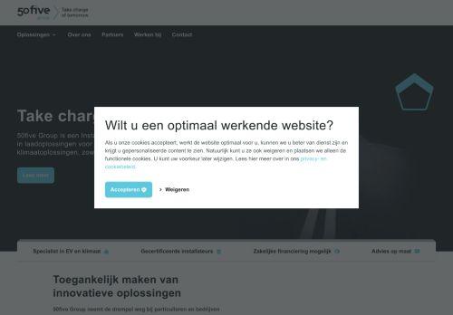 Screenshot van 50five.nl