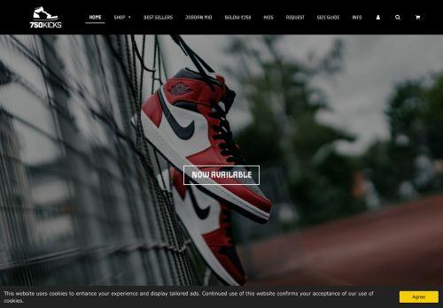 Screenshot van 750kicks.nl